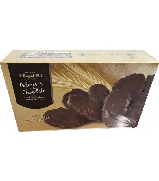 Palmeritas de hojaldre chocolate